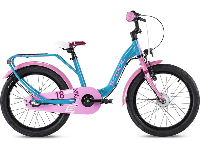 s'cool niXe alloy street 18 3-S Kinderen, turquoise/pink